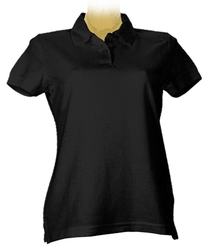 Polo Shirt girl schwarz